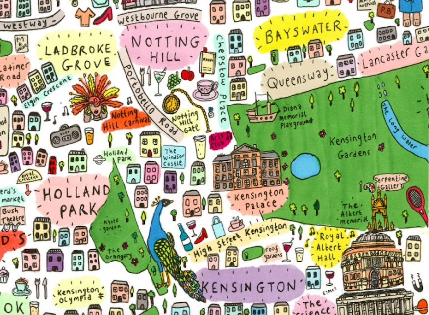 This Gorgeous Hand-Drawn Map Is Helping Grenfell Fire Victims
