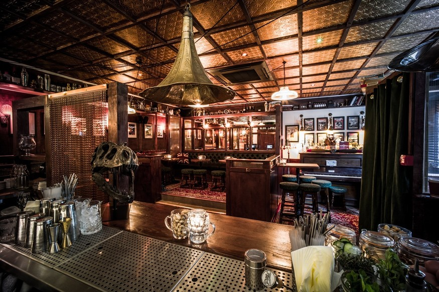 Cocktails with a side of the Krays at this top-notch bar