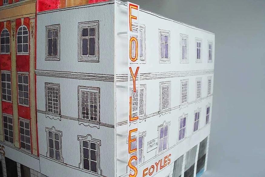 Artist's Model Of A Doomed West End Bookshop