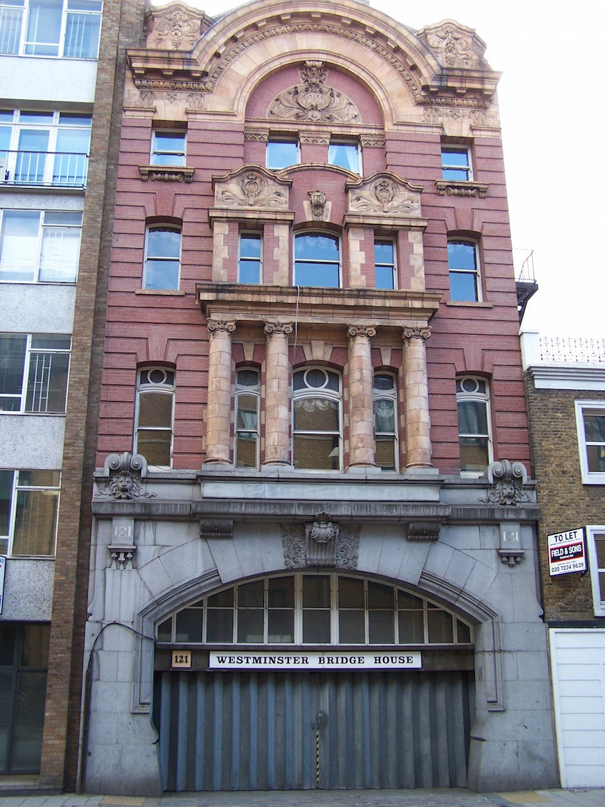 This London building use to house a death railway station