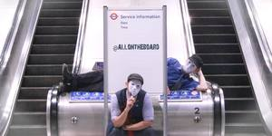 This Masked Duo Are Doing Amazing Things With London Underground Notice Boards