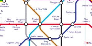 A Brutally Honest Tube Map