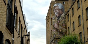 Nelson Mandela Appears On Mandela Street
