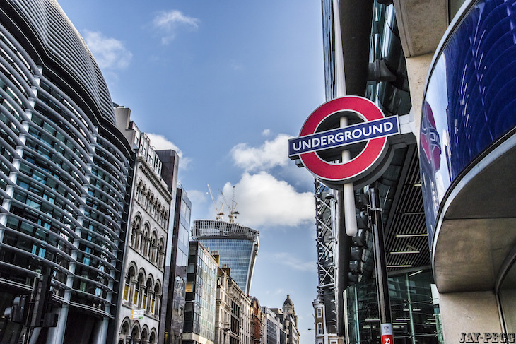 Zone 1 homes close to the tube have risen by over 50% in 10 years