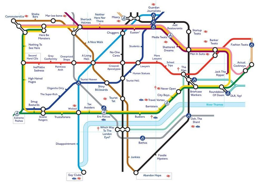 Tube Maps Don't Come More Honest Than This