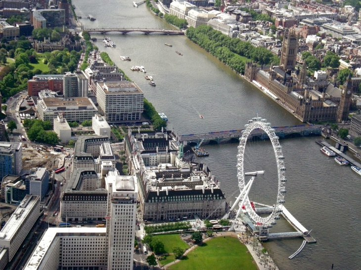 A Helicopter's View Over Central London