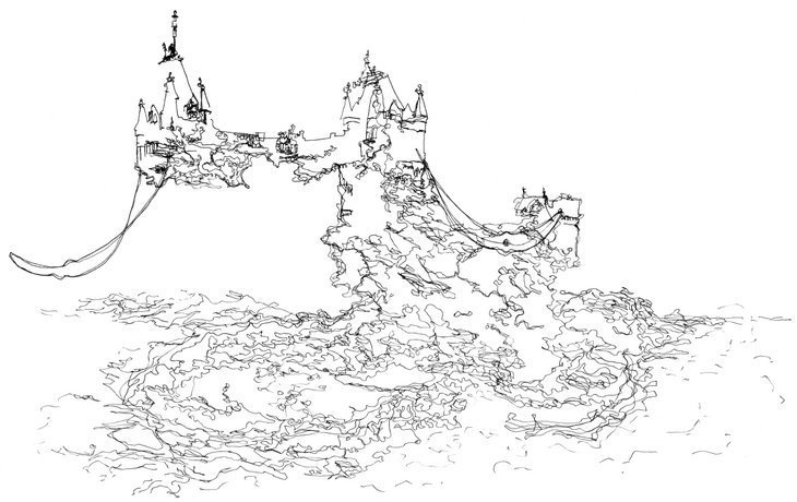 Tower Bridge Is Melting Away In These Drawings