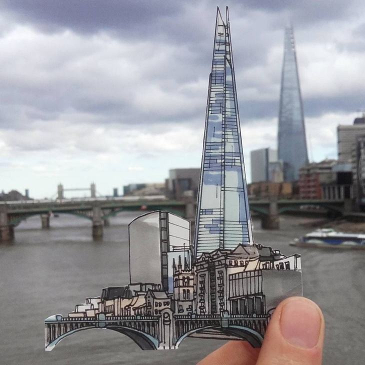 Seen What This Artist Has Done With London Landmarks?