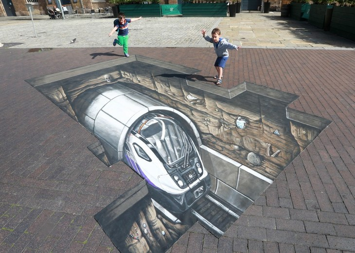 Can't Wait for Crossrail? This street mural gives you a glimpse into the future
