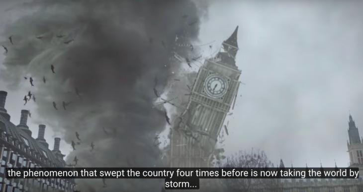 Sharks destroy Big Ben, London Eye/faith in cinema