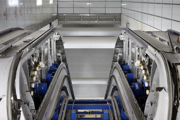 In Photos: Installing Crossrail's Escalators
