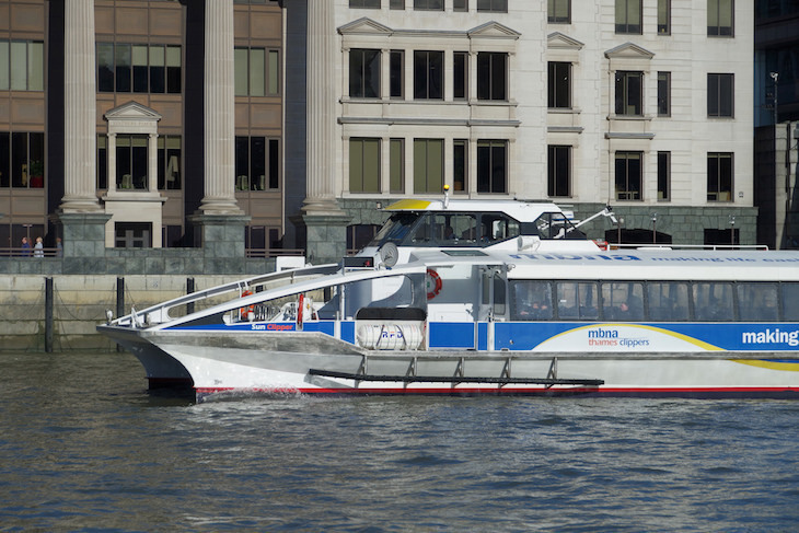 Thames Clippers Boats Venture Outside The M25 In New Trial