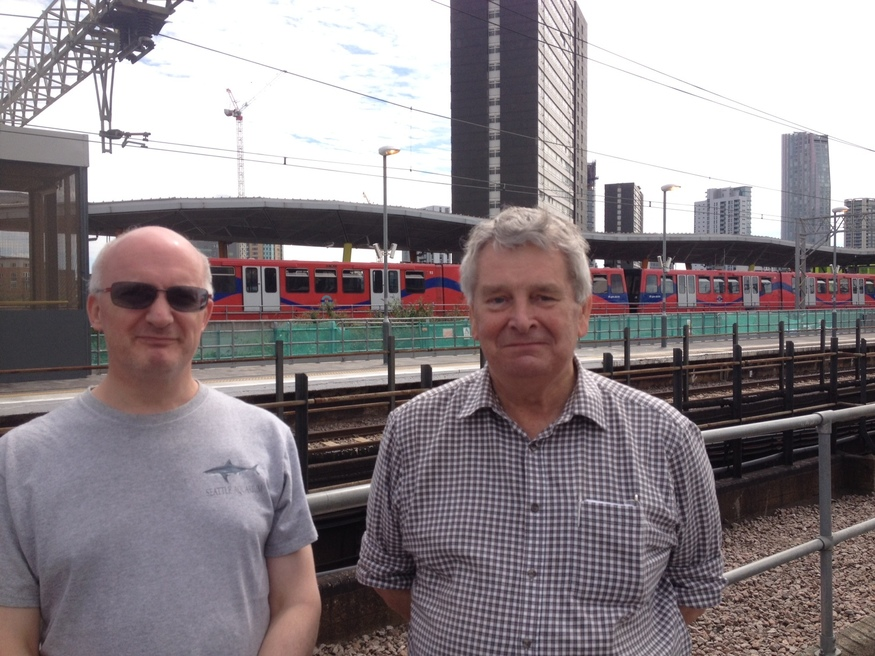 Rail enthusiasts Clive Cranshawe and Mike Blaydon