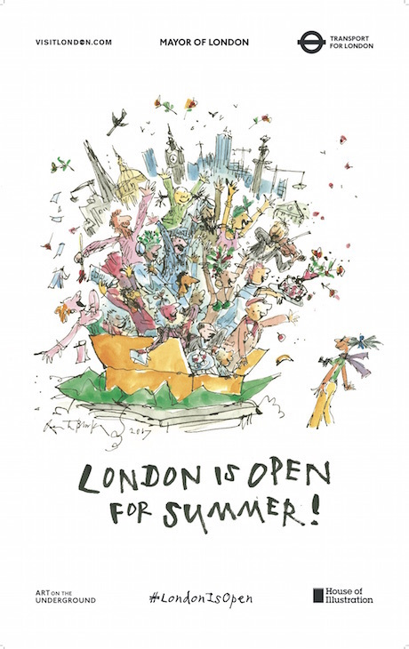 Look Out For These Quentin Blake Posters On The Tube This Week