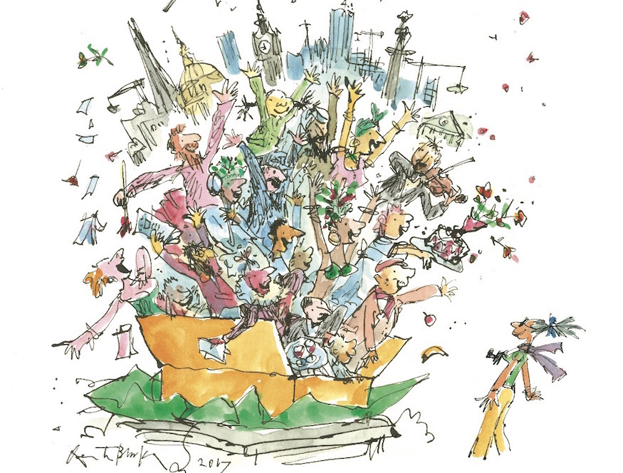 We love this new illustration of London by Quentin Blake