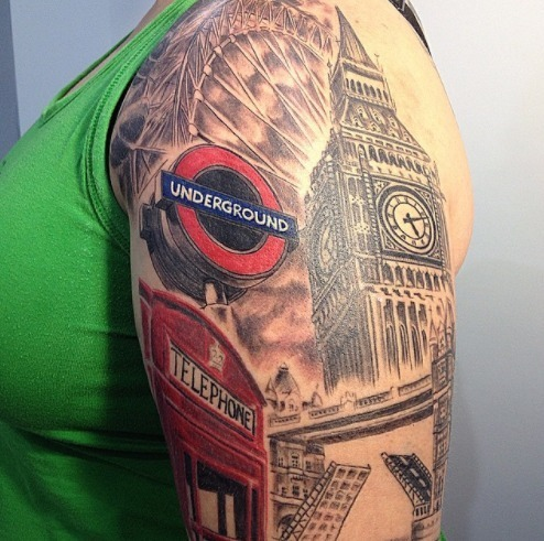You won 39 t believe these london themed tattoos londonist for Tattoo shops in london