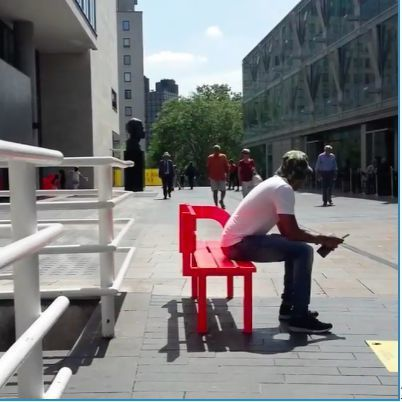 Can You Figure Out How To Sit On These Benches?