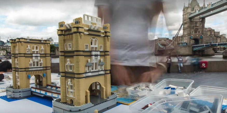 Man Creates Tower Bridge In Seconds, Out Of Lego