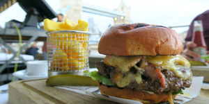 Tuck Into A Deluxe Burger With A View Over Tower Bridge