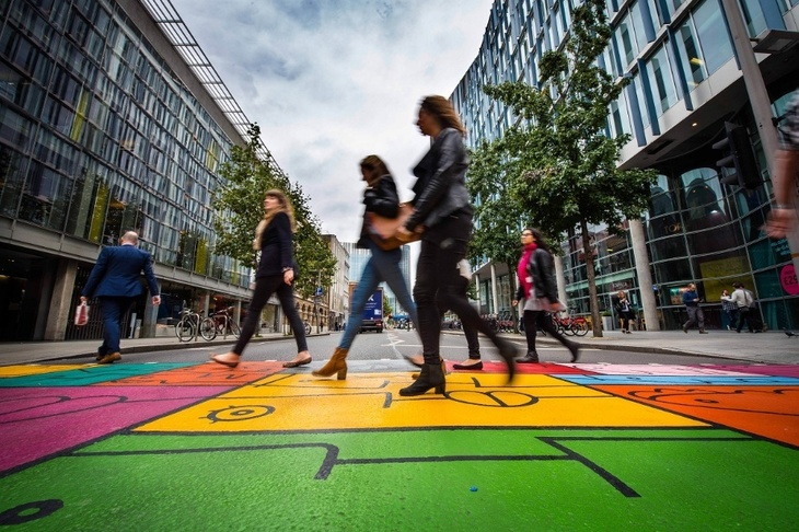Here's A Pedestrian Crossing That Motorists Can't Fail To See