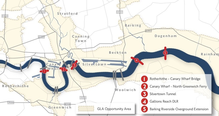 A Potted History Of (The Lack Of) River Crossings On The Thames To The East