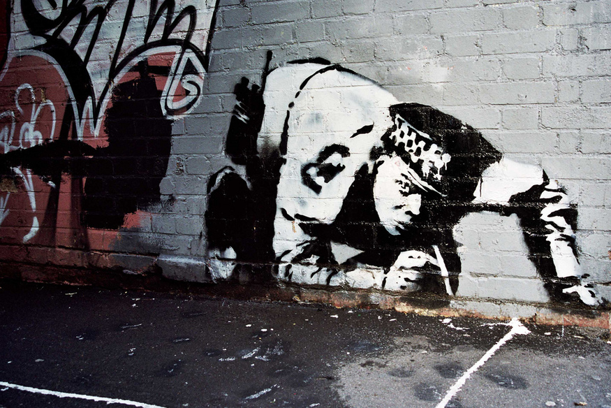 Banksy's Snorting Copper Is Going Home To Hackney