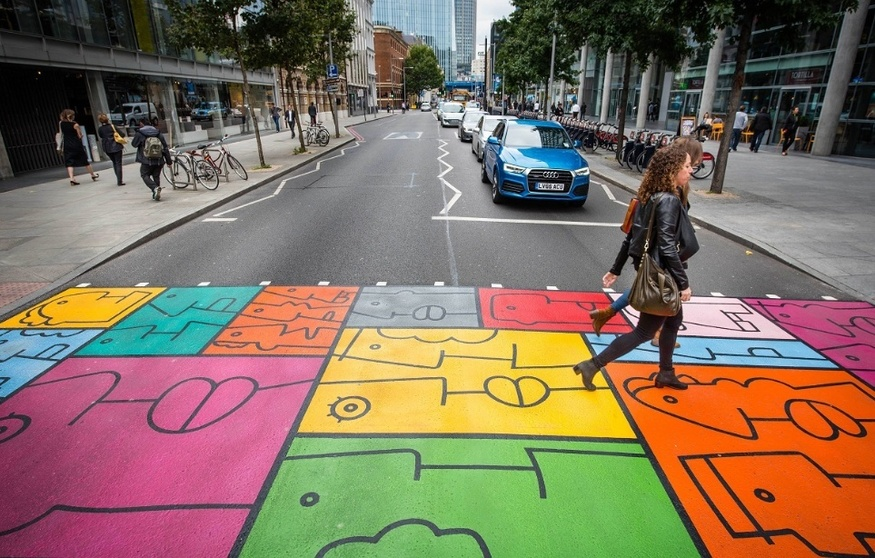 Seen This Colourful Crossing In Bankside Londonist