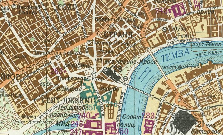 London Atlas Map.The Soviet Union Secretly Mapped London Here Are Those Maps