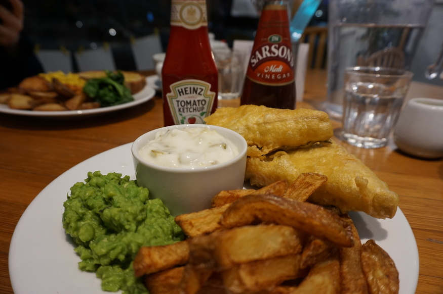 Tofish and chips at Canvas Cafe - where to get vegan fish and chips in London