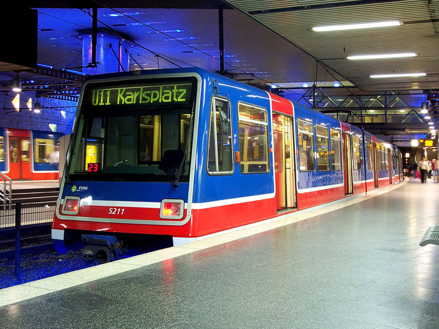 Take a look at old DLR trains in action in Germany