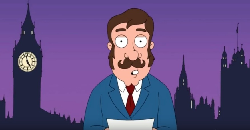 London mocked in TV cartoons