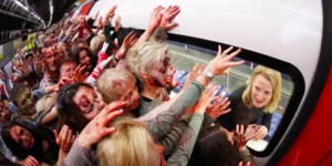 Over 100 Zombies Invade London's Transport Network