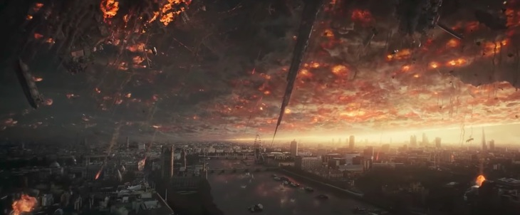 Hollywood has a fetish for destroying London... look