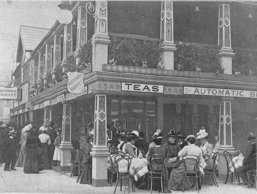 London had a vending machine cafe... in 1902
