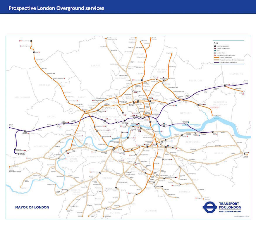 Remember What The Original Overground Map Looked Like?