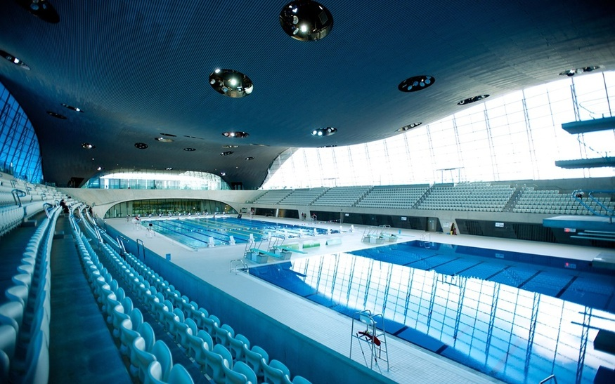 the one where you can pretend to be an olympic athlete the aquatics centre