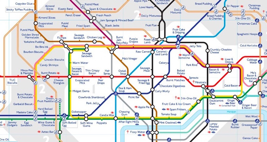 Tube Map Of London.A Synaesthesia Tube Map Londonist