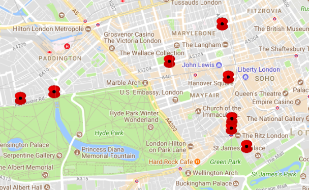 London's Victoria Cross Medal Recipients, Mapped