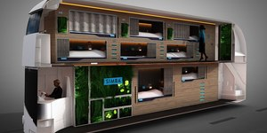 This Futuristic Night Bus With Beds Could Be Coming To London