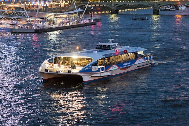 Family-friendly, cheap sightseeing options in London:Thames Clippers