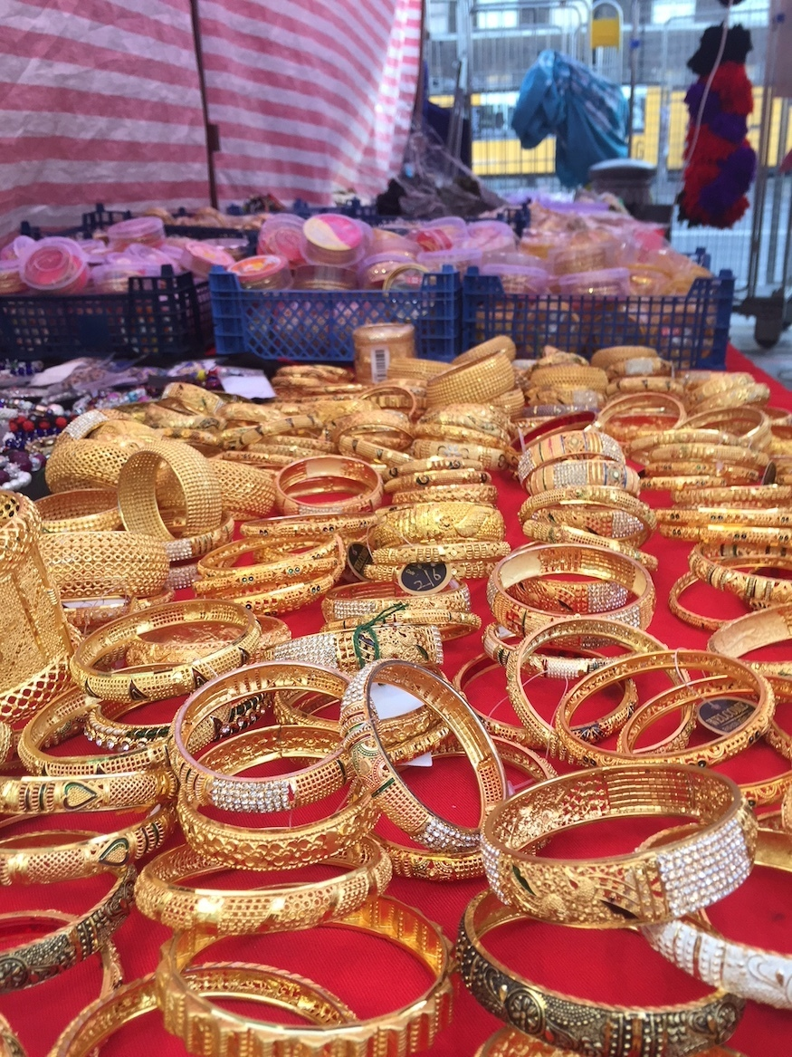 Jewellery on sale at Kamal Uddin's stall/