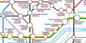 A Tube Map Of London Salaries