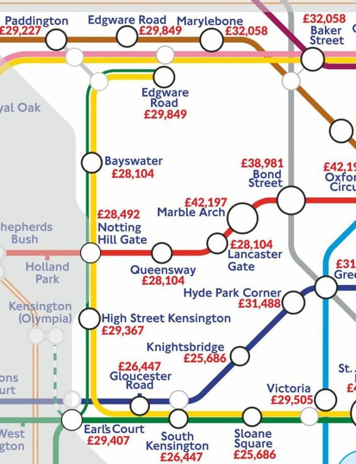 A Tube Map Of London Salaries | Londonist