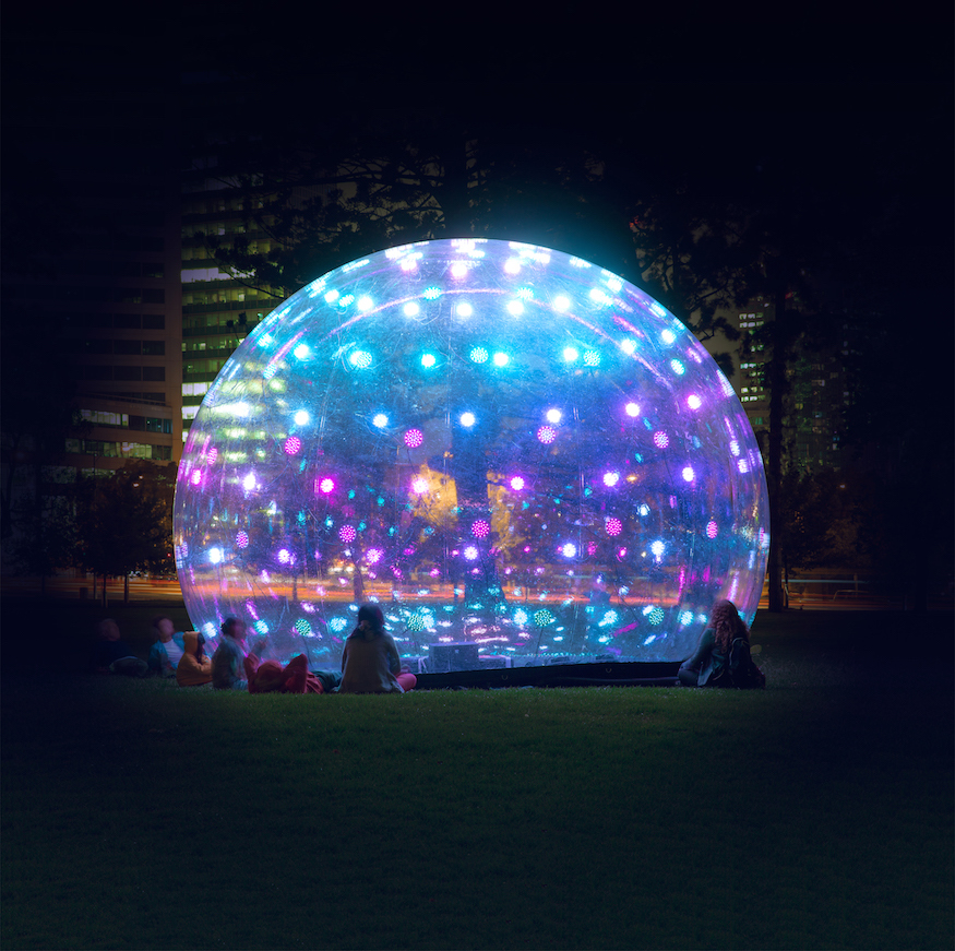 Things to do this weekend in london 20 21 january 2018 londonist see more than 30 sculptures structures and installations from some of the most innovative artists in light art today at canary wharf sonic bubble solutioingenieria Image collections