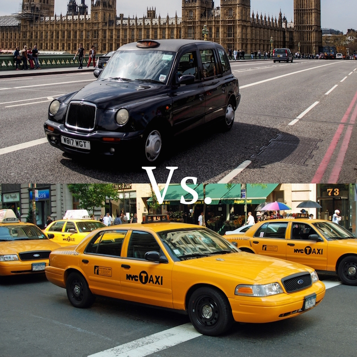 8d11ce8a2d9c9 Two iconic modes of transport, but let's talk numbers: London has around  21,000 black cabs, while New York has around 13,500 yellow taxis pootling  up and ...