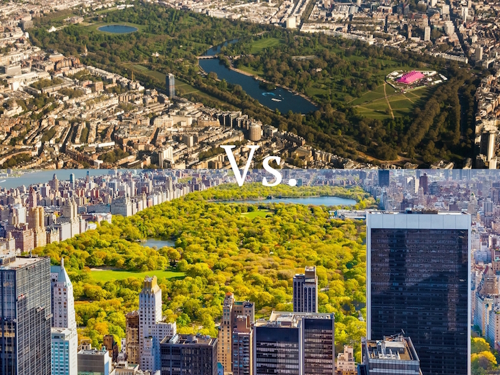 c46283ca68e98 Central Park, probably the world's most famous park, is more than double  the size of Hyde Park, at 3.41km2 to Hyde Park's 1.42km2 (that's without  including ...