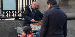Who Are The Guys That Sell Hot Nuts On London's Bridges?