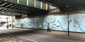 This Chiswick Wall Has Been Beautified With Maps