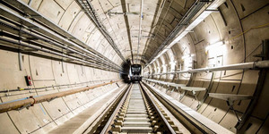 First Elizabeth Line Train Rolls Through Crossrail Tunnels