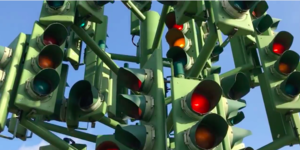 Have You Seen The Canary Wharf Roundabout With Over 75 Traffic Lights?